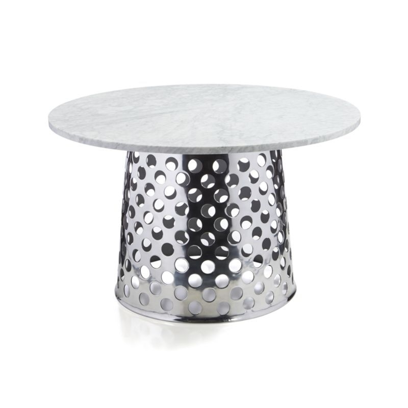 "Como 48"" Round Marble Top Dining Table 