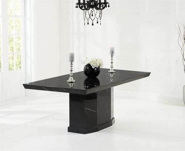 Como Black Constituted Marble Dining Table Within Como Dining Tables (View 15 of 25)