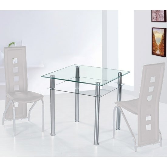 Como Clear Glass Dining Table Only 7115 Furniture In For Como Dining Tables (Image 8 of 25)