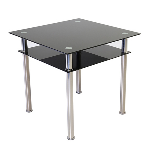 Como Square Glass Dining Table Black With Como Dining Tables (Image 15 of 25)