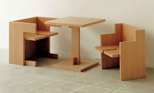 "Compact ""Cube"" Dining Table Set 