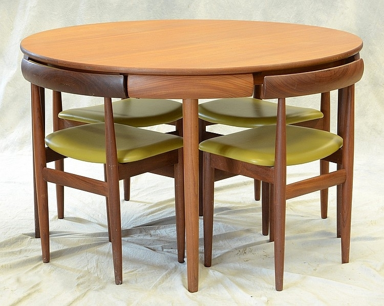 Compact Dining Room Table Marked Rem Rojle, Made In Denmark, Pertaining To Compact Dining Room Sets (View 3 of 25)