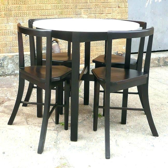 Compact Dining Set 3 Piece Compact Dining Set – Payoneer (Image 4 of 25)