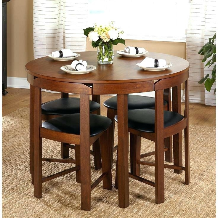 Compact Dining Table And Chairs Small Dining Table Sets Small Round Throughout Compact Dining Tables And Chairs (Image 2 of 25)