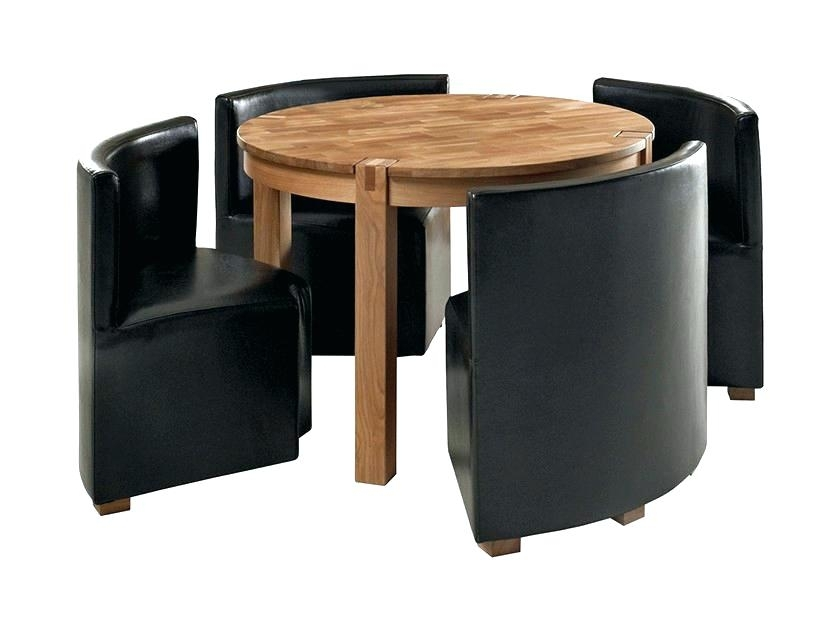 Compact Dining Table Set Small Dinner Table And Chairs Dining Room With Regard To Compact Dining Sets (Image 9 of 25)