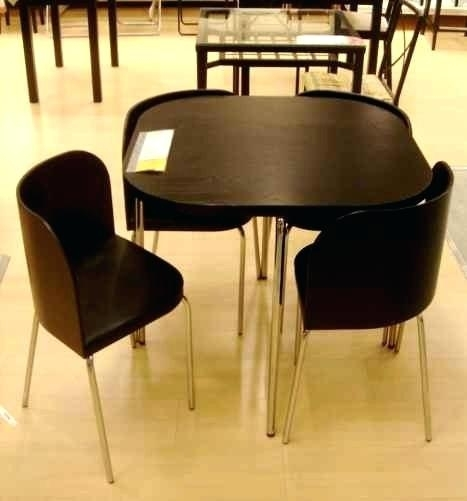 Compact Dining Table Set Tables Small Round For 6 Gorgeous And With Compact Dining Tables (Image 7 of 25)