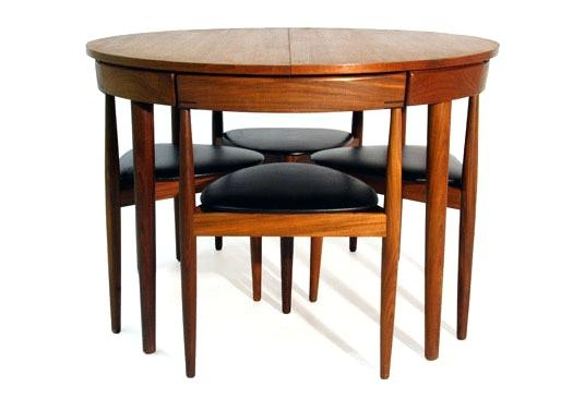 Compact Dining Table Sets Small Round Dining Table Set Round Dining Regarding Compact Dining Tables And Chairs (View 9 of 25)