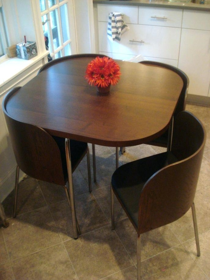 Compact Dining Table Sets Small Round Dining Table Set Round Dining Throughout Compact Dining Room Sets (Image 11 of 25)