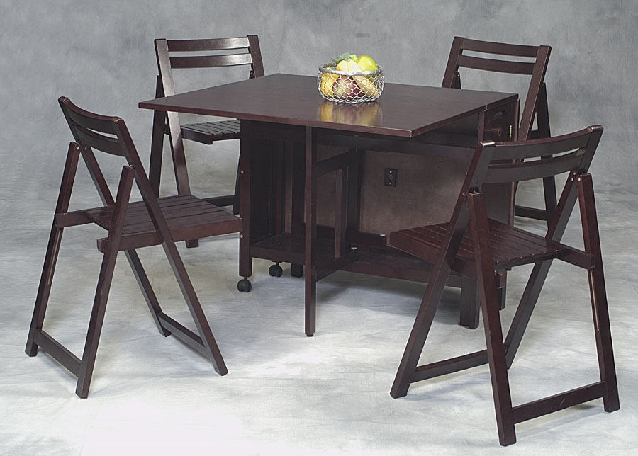 Compact Folding Dining Table And Chairs (8 Images) – Utau Chairs Inside Compact Folding Dining Tables And Chairs (Image 4 of 25)