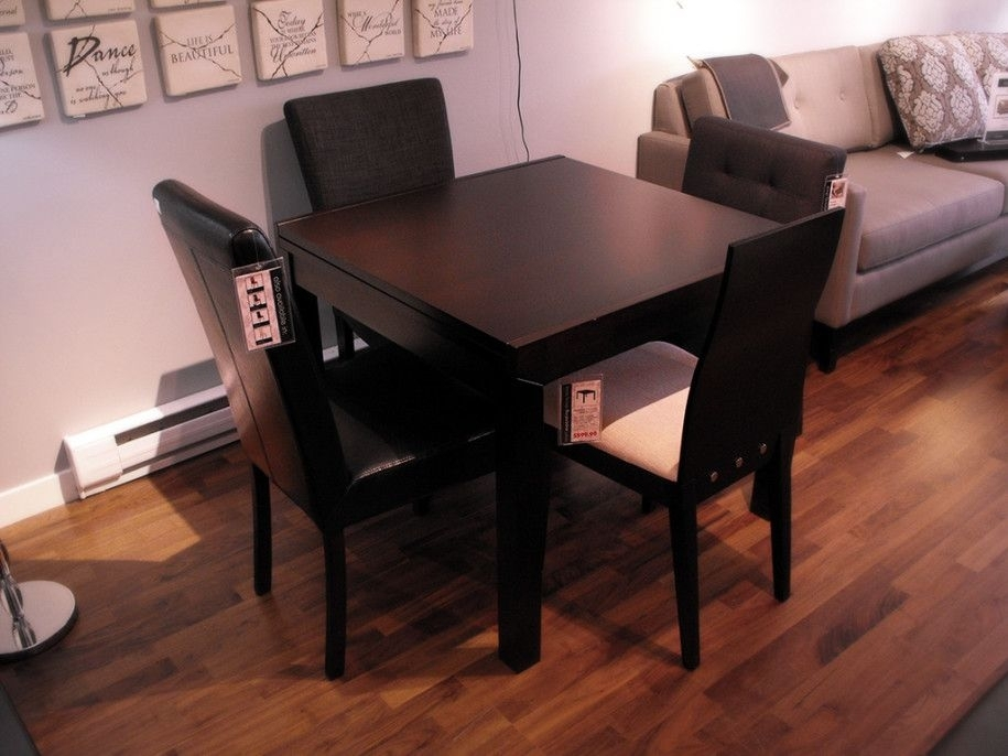Compact Small Square Dining Table With Colorful Decoration: Classic Intended For Helms 5 Piece Round Dining Sets With Side Chairs (View 3 of 25)