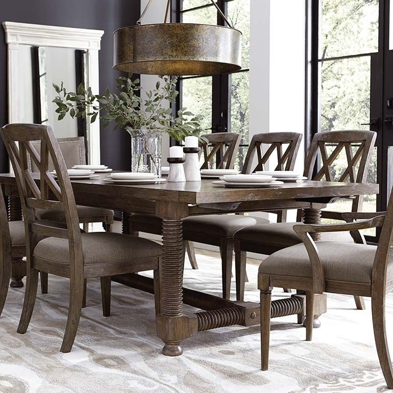 "Compass 104"" Trestle Dining Table 