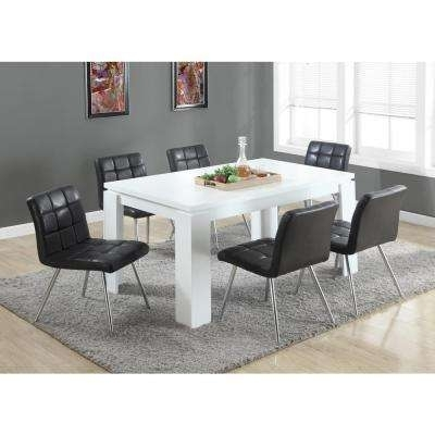 Composite – Kitchen & Dining Room Furniture – Furniture – The Home Depot Intended For Jaxon 7 Piece Rectangle Dining Sets With Wood Chairs (View 17 of 25)