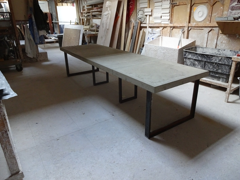 Concrete Dining Table   H & H Bespoke Concrete Top Tables Within London Dining Tables (Image 6 of 25)