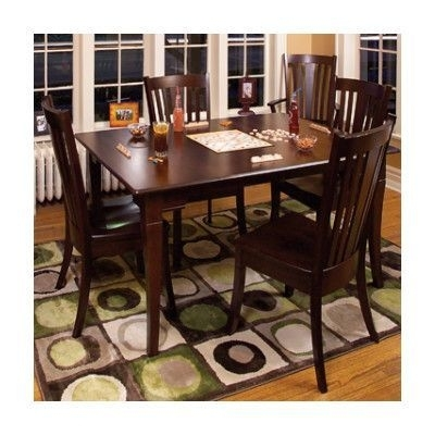 Conrad Grebel Newport Dining Table Table Finish: Cherry – Aged Brick Regarding Chapleau Ii 7 Piece Extension Dining Tables With Side Chairs (View 5 of 25)
