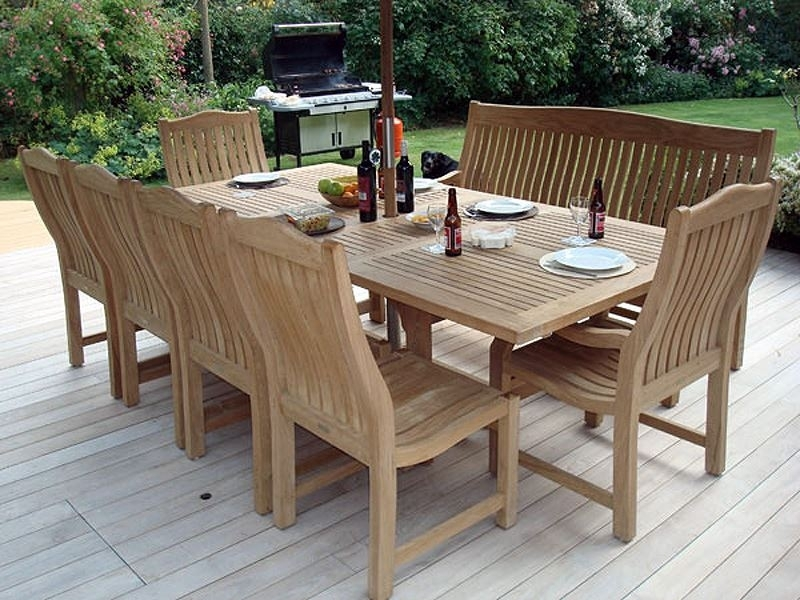Constable Medium Extending Teak Garden Dining Table – 1.8 To  (Image 2 of 25)