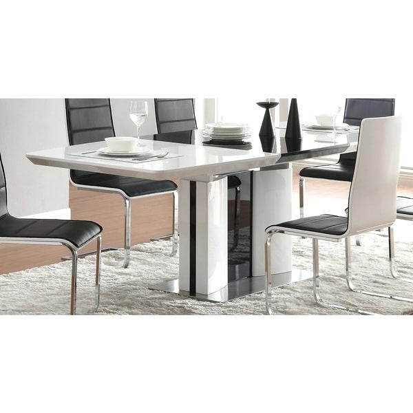 Contemporary Dining Furniture Black And White Contemporary Dining Regarding Contemporary Dining Furniture (Image 3 of 25)