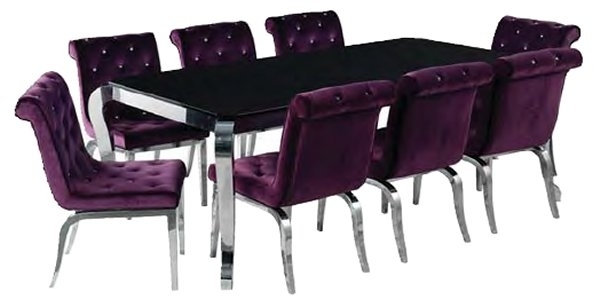 Contemporary Dining Furniture Intended For Dining Tables And Purple Chairs (Image 4 of 25)