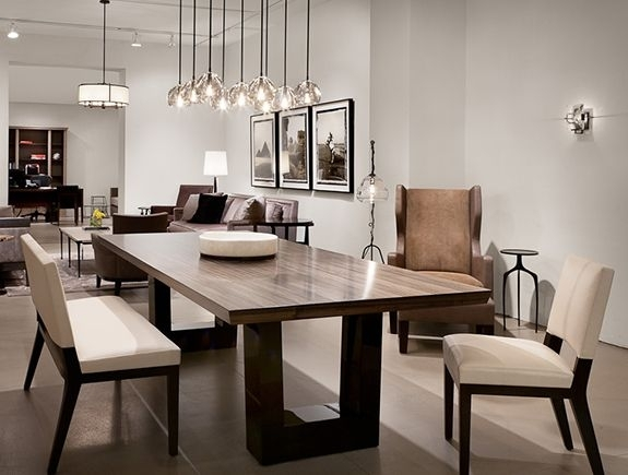 Contemporary Dining Room (View 8 of 25)