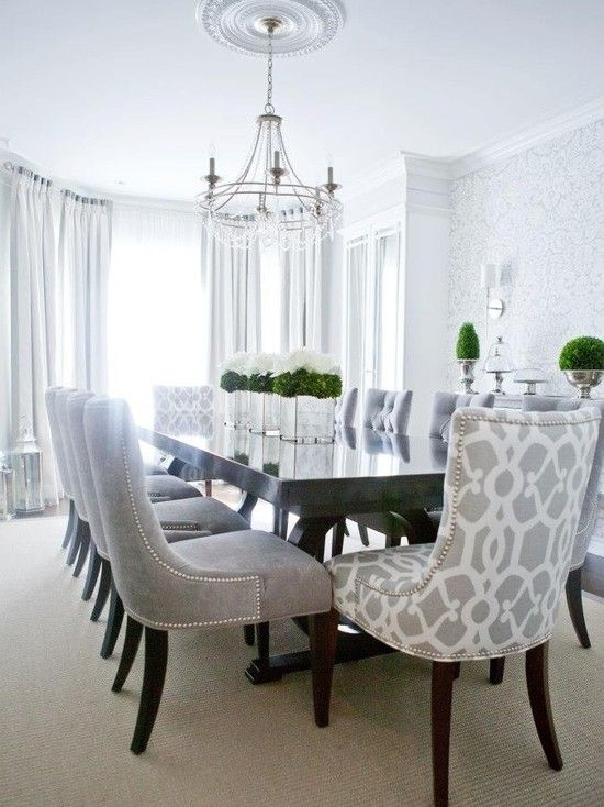 Contemporary Dining Room — Love The Patterned Chairs For The Head For Contemporary Dining Room Chairs (Image 4 of 25)