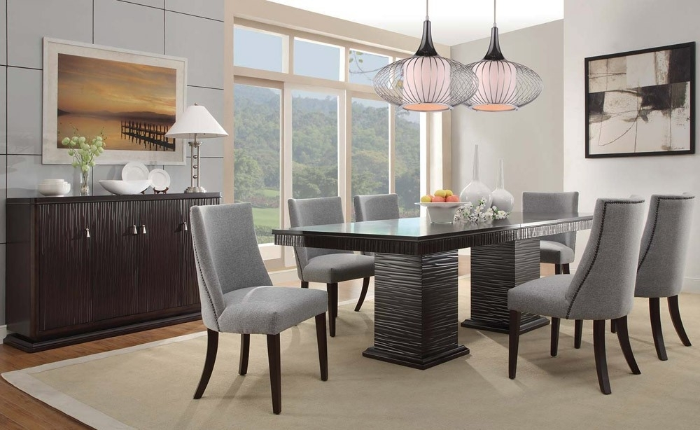 Contemporary Dining Room Sets Concept Heavenly Furniture Decor A With Regard To Contemporary Dining Tables Sets (View 21 of 25)