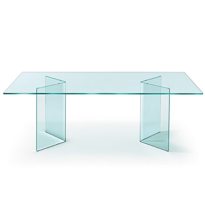 Contemporary Dining Table / Curved Glass / Rectangular / Round With Curved Glass Dining Tables (Image 7 of 25)