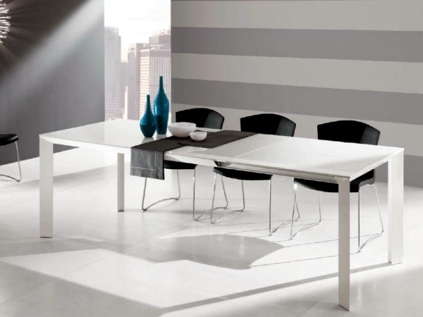 Contemporary Dining Table Made Of Wood, Glass And Metal – 16 Intended For Contemporary Dining Furniture (Image 8 of 25)