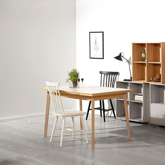 Contemporary Dining Table / Melamine / Rectangular / Extending In Contemporary Dining Furniture (View 24 of 25)