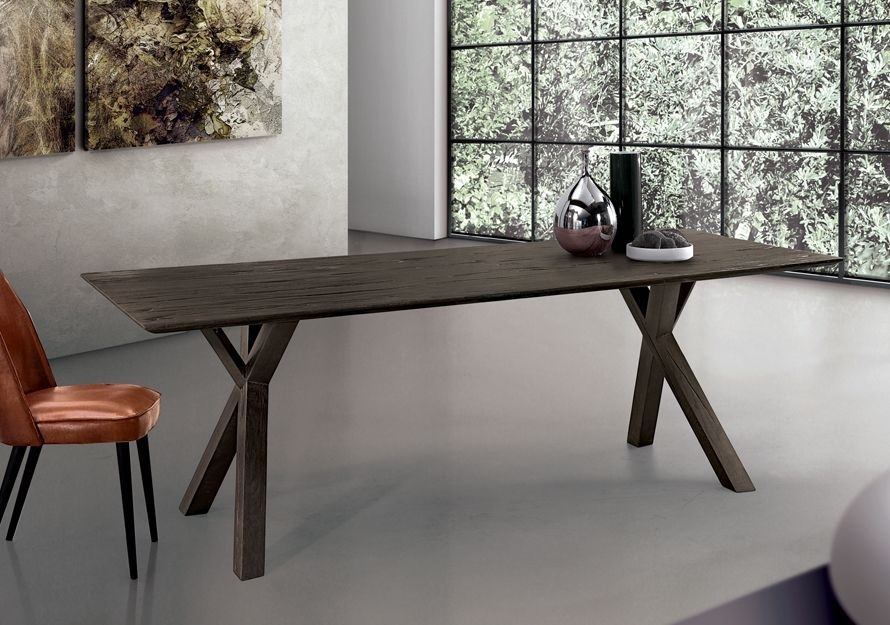 Contemporary Dining Table / Oak / Solid Wood / Rectangular – Tree In Tree Dining Tables (Image 5 of 25)
