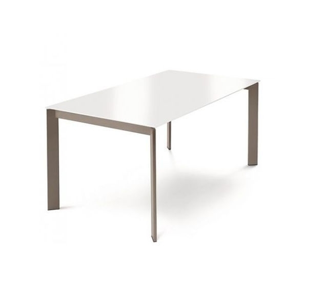 Contemporary Dining Table / Wooden / Metal / Melamine – Glam 130 Regarding White Melamine Dining Tables (Image 9 of 25)