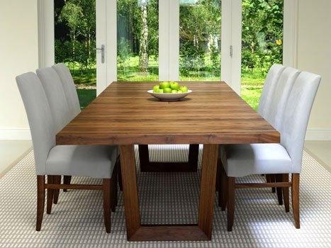 Contemporary Dining Tables Oak & Walnut | Bespoke Contemporary Tables For Walnut Dining Tables (Image 4 of 25)