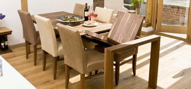 Contemporary Dining Tables Oak & Walnut | Bespoke Contemporary Tables Intended For Contemporary Extending Dining Tables (View 3 of 25)