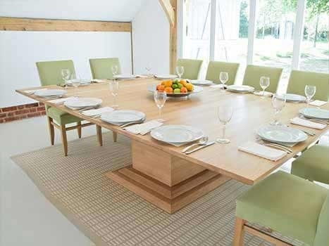 Contemporary Dining Tables Oak & Walnut | Bespoke Contemporary Tables Intended For Oak Dining Suites (View 14 of 25)