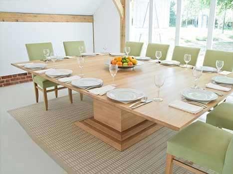 Contemporary Dining Tables Oak & Walnut | Bespoke Contemporary Tables Intended For Oak Dining Suites (Image 5 of 25)