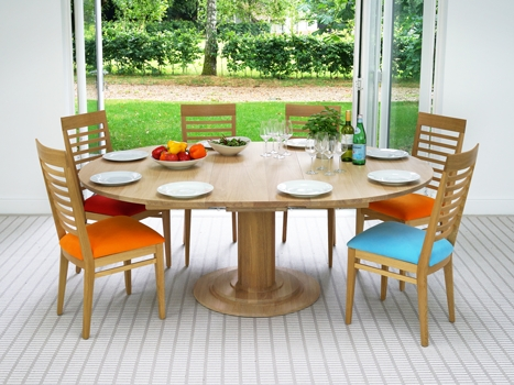 Contemporary Dining Tables Oak & Walnut | Bespoke Contemporary Tables Within Colourful Dining Tables And Chairs (Image 14 of 25)