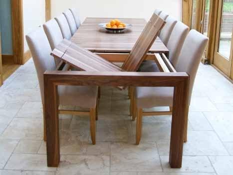 Contemporary Dining Tables Oak & Walnut | Bespoke Contemporary Tables Within Walnut Dining Tables (Image 5 of 25)
