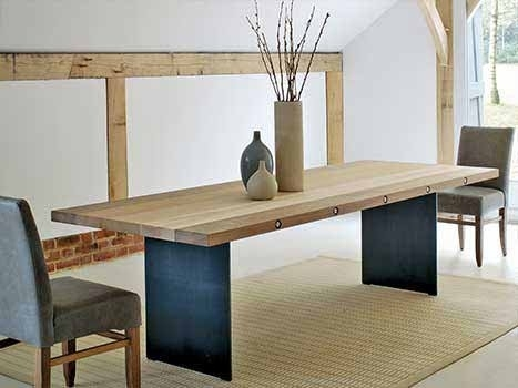 Contemporary Dining Tables | Solid Wood Dining Table For Sleek Dining Tables (Image 8 of 25)