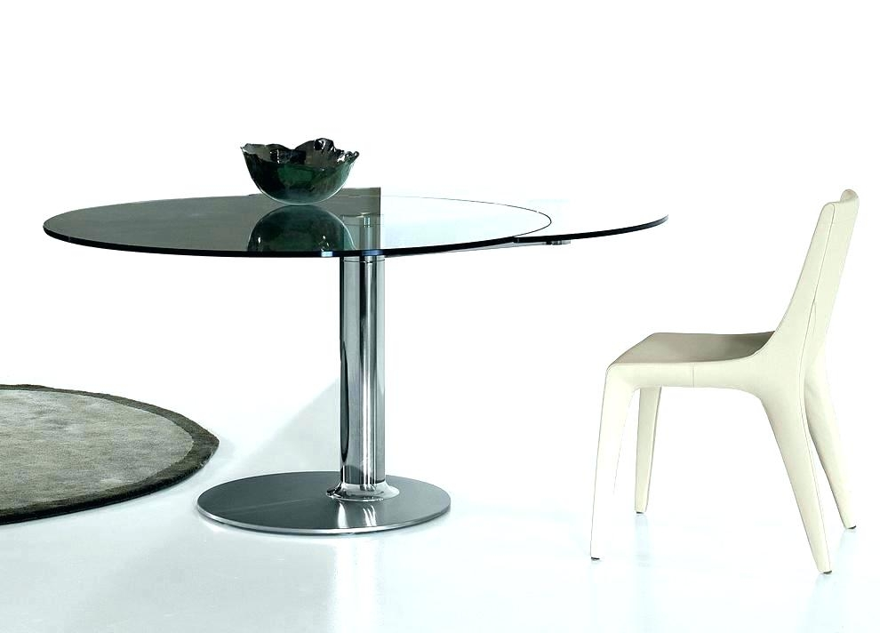 Contemporary Extending Dining Table Contemporary Extending Glass Within Extending Glass Dining Tables (Image 6 of 25)