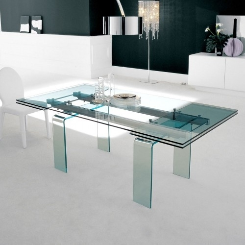 Contemporary Furniture From Belvisi Furniture Cambridge For Extending Glass Dining Tables (Image 7 of 25)