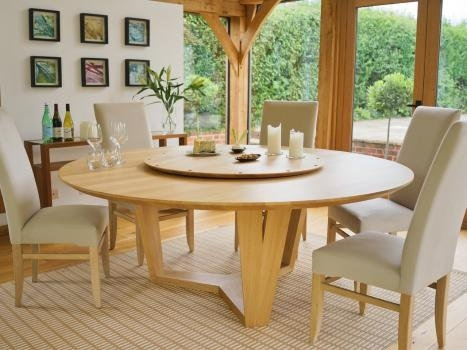 Contemporary Round Dining Table | Round Extending Dining Tables For Round Dining Tables (Image 6 of 25)