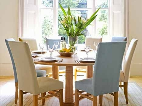 Contemporary Round Dining Table | Round Extending Dining Tables For Round Oak Dining Tables And Chairs (View 5 of 25)