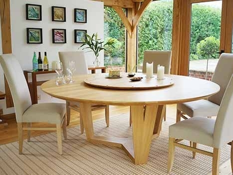 Contemporary Round Dining Table | Round Extending Dining Tables Intended For Circular Oak Dining Tables (View 4 of 25)