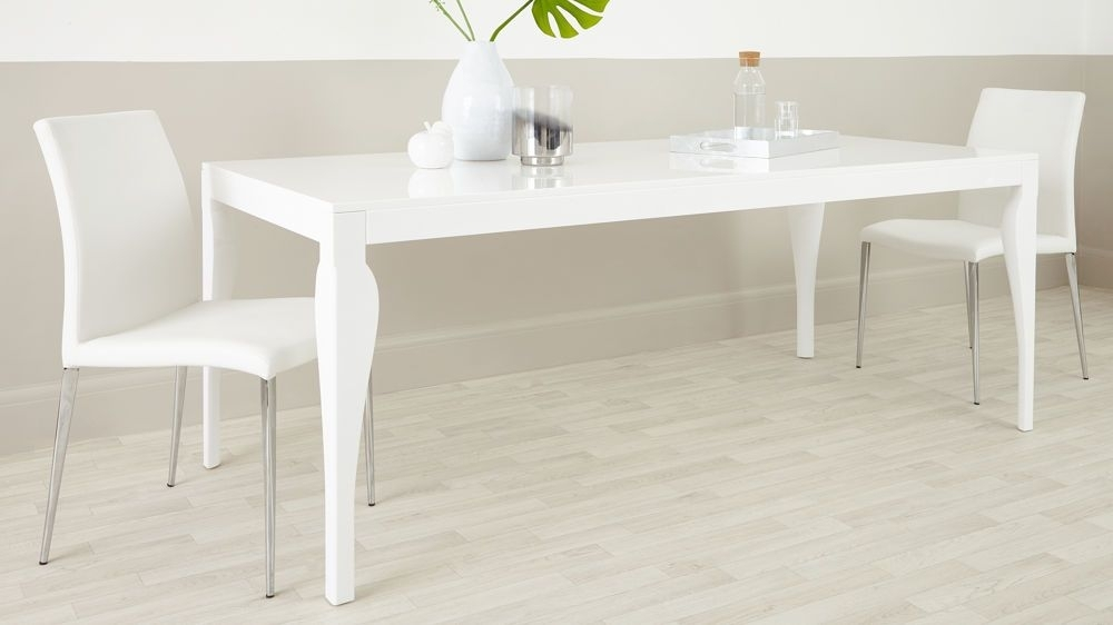 Contmeporary 8 Seater White Gloss Dining Table | House Ideas With White 8 Seater Dining Tables (Image 9 of 25)