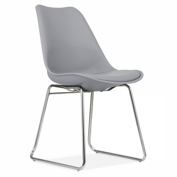 Cool Grey Dining Chair With Soft Pad Seat | Restaurant Chairs | Cult Uk Within Grey Dining Chairs (View 22 of 25)
