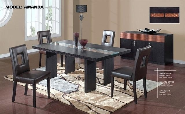 Cool Modern Glass Dining Table Set 9 Round Kitchen Wood Bases For For Wood Glass Dining Tables (Image 4 of 25)