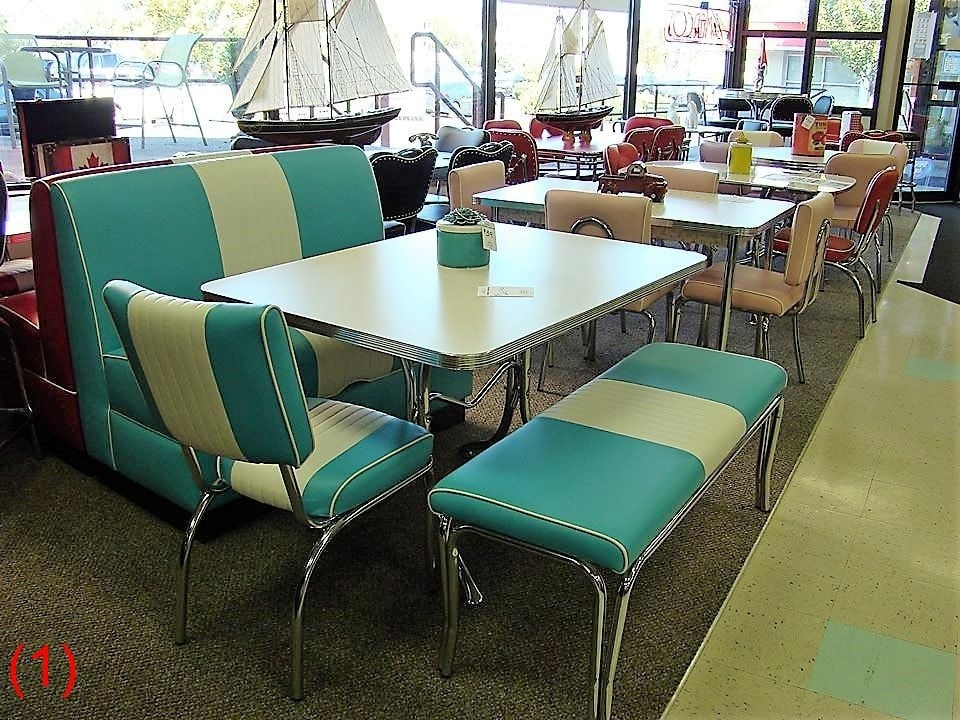 Cool Retro Dinettes | 1950's Style | Canadian Made Chrome Sets With Regard To Chrome Dining Tables And Chairs (Image 8 of 25)