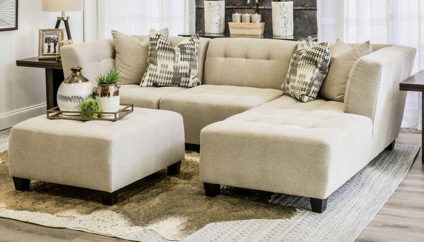 Cooper Oatmeal 3 Piece Sectional – Home Zone Furniture | Living Room In Jobs Oat 2 Piece Sectionals With Left Facing Chaise (Image 9 of 25)