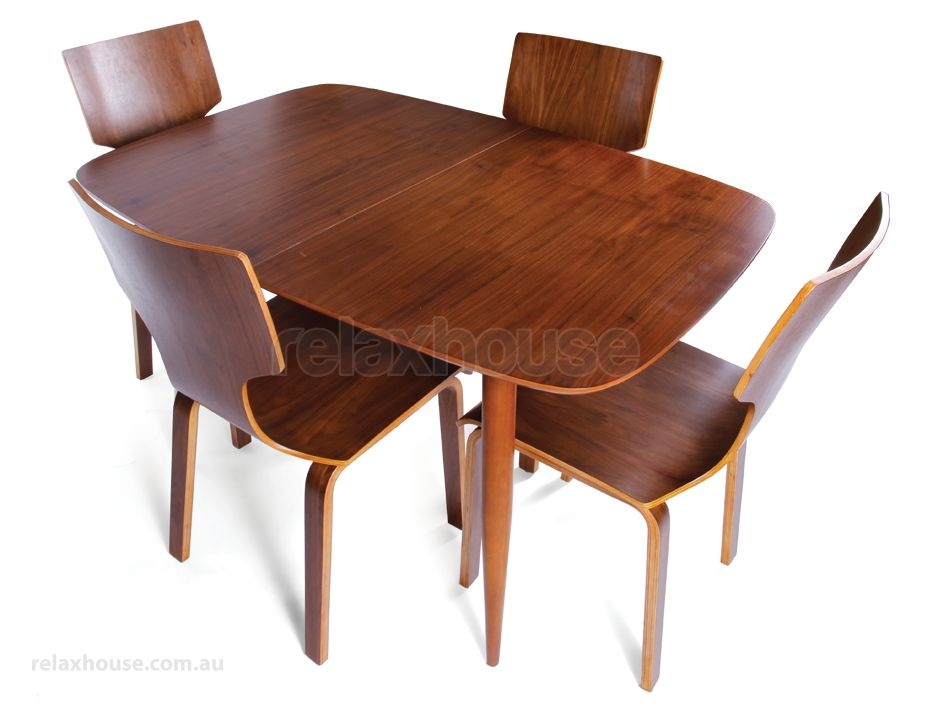 Copenhagen Extendable Vintage Danish Dining Table – Walnut Table Top Throughout Danish Dining Tables (Image 5 of 25)