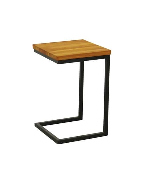 Cora Industrial Teak Sofa Table Regarding Cora 5 Piece Dining Sets (Image 5 of 25)