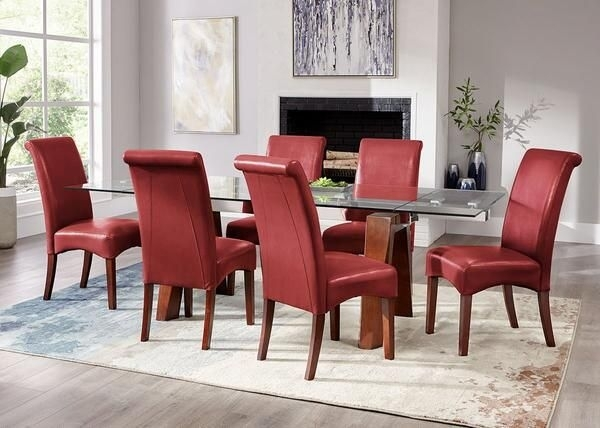 Cora Red 7 Pc. Dinette   Ideas For The House   Pinterest   Pc And House pertaining to Cora 7 Piece Dining Sets
