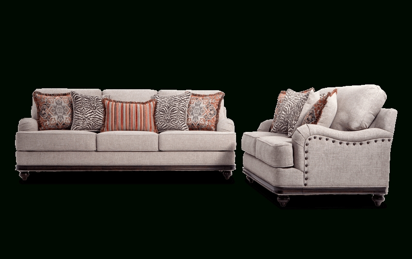 Cora Sofa & Loveseat | Bob's Discount Furniture Within Cora 7 Piece Dining Sets (Image 7 of 25)